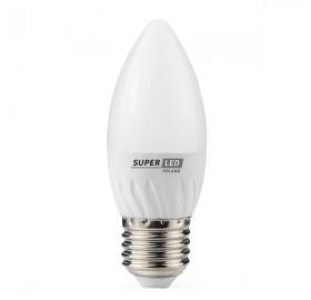 Żarówka LED E27 6W świeczka biała zimna