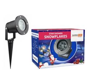 Projektor Laserowy Star Shower Snow Płatki Śniegu