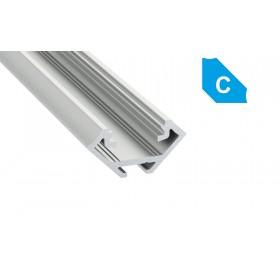 Profil aluminiowy anodowany narożny 1m  typ C srebrny