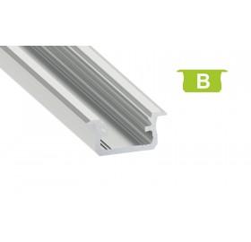Profil aluminiowy anodowany 1m typ B srebrny