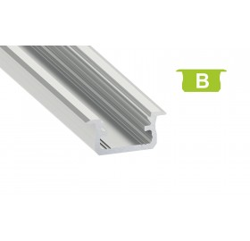 Profil aluminiowy anodowany 2m typ B srebrny