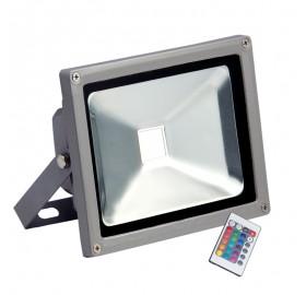 HALOGEN NAŚWIETLACZ LAMPA LED RGB 20w + pilot