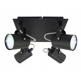 Oprawa natynkowa halogenowa GU10 LED czarna podwójna