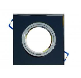 Oprawa GU10 podświetlana LED czarna ciepła biała