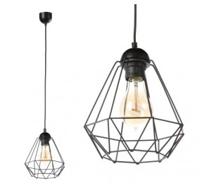 Lampa wisząca Diament Loft Slim E27 czarna