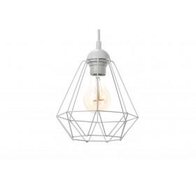 Lampa wisząca Diament Loft Slim E27 biała