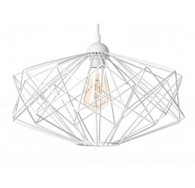 Lampa sufitowa wisząca druciana Loft E27 LED biała