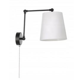 Lampa ścienna kinkiet abażur z włącznikiem E27 LED biała