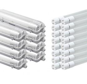 8x Oprawa hermetyczna 120 + 16x świetlówka LED