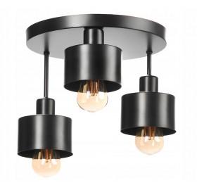 Lampa wisząca plafon żyrandol Edison Loft E27 LED czarna