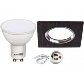 Zestaw GU10 5W BC + oprawa ALUMINIUM LED + gniazdo gu10