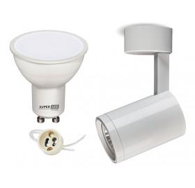 Zestaw oprawa NATYNKOWA spot okr + LED GU10 5W