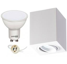 Zestaw oprawa NATYNKOWA spot + LED GU10 5W