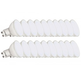 20 x Żarówka LED GU10 5W biała ciepła