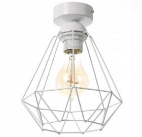 Lampa wisząca plafon Diament Slim Loft E27 LED biała