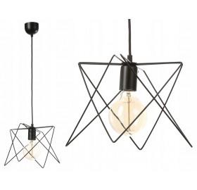 Lampa sufitowa wisząca Druciana Loft E27 LED czarna