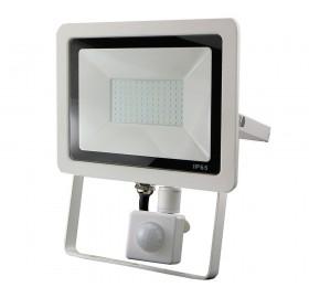 Naświetlacz LED 50W z czujnikiem ruchu biały zimny