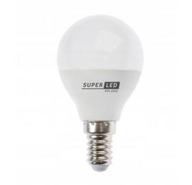 Żarówka LED E14 7W kulka biała zimna