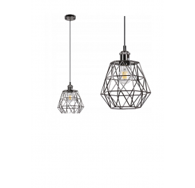 Lampa sufitowa wisząca Diament klatka Loft E27 LED Dasu