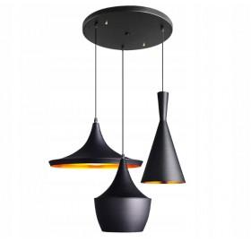 Lampa sufitowa wisząca Edison Loft Gold E27 LED 3p Golia