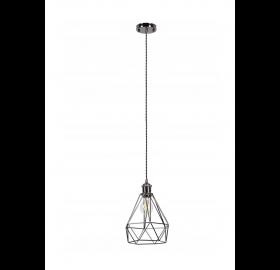 Lampa sufitowa wisząca Diament klatka Loft E27 LED Daku cz