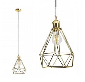 Lampa sufitowa wisząca Diament klatka Loft E27 LED Daku br