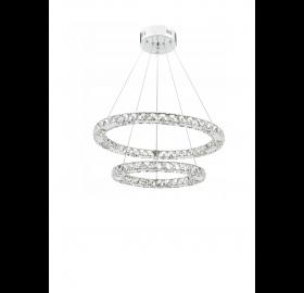 Lampa wisząca LED RING żyrandol kryształ 27W 40 cm