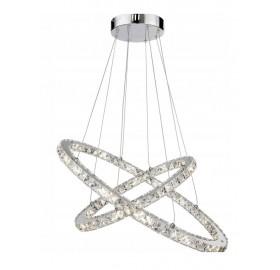 Lampa wisząca LED RING żyrandol kryształ 36W 50 cm