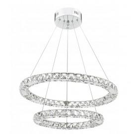 Lampa wisząca LED RING żyrandol kryształ 48W 60 cm