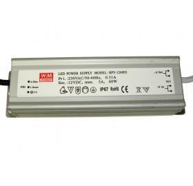 Zasilacz LED wodoodporny 5A 60W 12V IP67