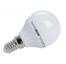 Żarówka LED E14 4W kulka biała ciepła