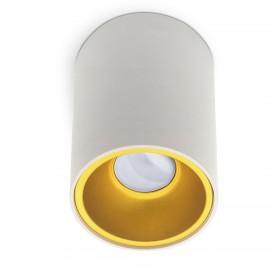 Oprawa natynkowa GU10 okrągła biało-złota