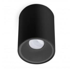 Oprawa natynkowa GU10 okrągła czarna