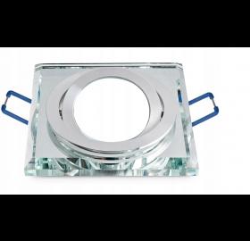 Oprawa halogenowa GU10 SZKLANA RUCHOMA Krystaliczna