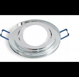 Oprawa halogenowa szklana okrągłą krystaliczna