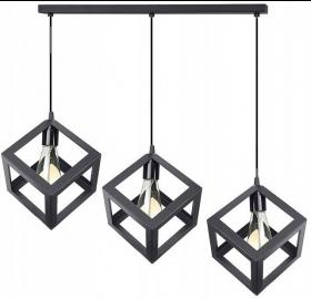 Lampa sufitowa wisząca Loft Industrial 3x E27 LED