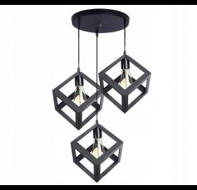 Lampa sufitowa wisząca Loft Industrial 3x E27 LED ok