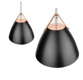 Lampa wisząca Perona czarna SuperLED