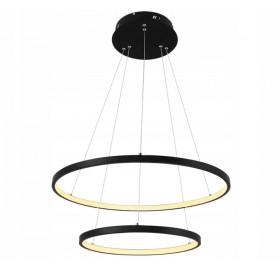 Lampa wisząca Ring żyrandol LED 63W czarny