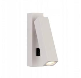 Lampa ścienna, kinkiet LED TROTAN z włącznikiem biały
