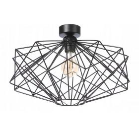 Lampa sufitowa wisząca Żyrandol Plafon E27 LED czarna