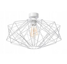 Lampa sufitowa wisząca Żyrandol Plafon E27 LED biała