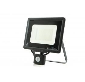 Naświetlacz LED 50W z czujnikiem ruchu zimny czarny