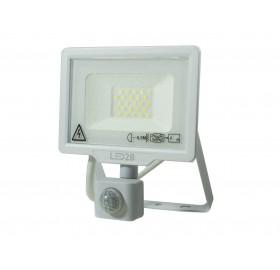 Naświetlacz LED 20W z czujnikiem ruchu zimny biały