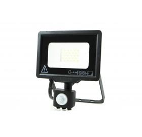 Naświetlacz LED 20W z czujnikiem ruchu zimny czarny