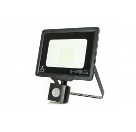 Naświetlacz LED 30W z czujnikiem ruchu zimny czarny