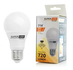 Żarówka LED E27 z czujnik zmierzchu 9W