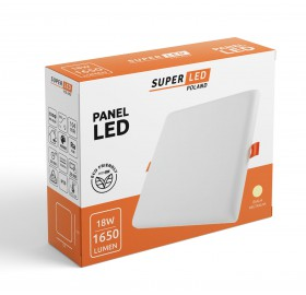 Panel plafon LED 18W 1650lm kwadrat neutralny