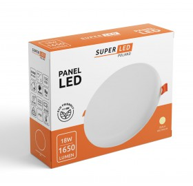 Panel plafon LED 18W 1650lm okrągły neutralny