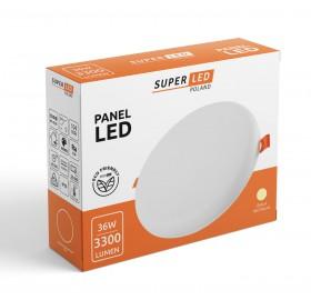 Panel plafon LED 36W 3300lm okrągły neutralny